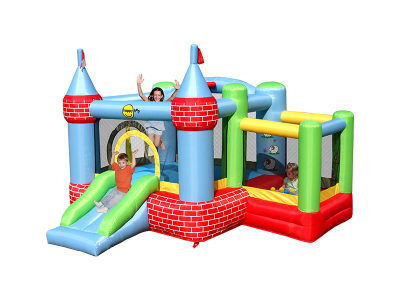 Castle Bouncer with Farmyard Ballpit (9112)